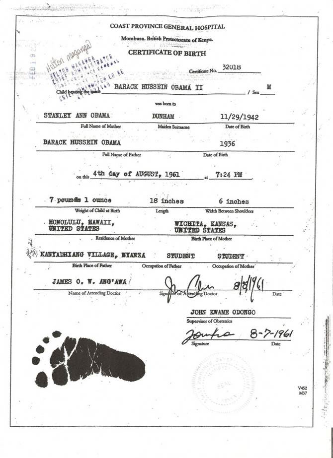 Obama Kenyan Birth Certificate 2010 Wiring Diagrams