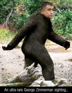George Zimmerman as Bigfoot