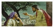 Jesus instructs Nicodemus
