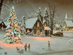 As beautiful as this scene may be, Christmas is not about a tree. It's about the Savior.