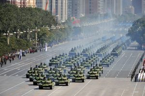 Just as China shows off its military, the coming Antichrist will place all of his faith and finances in creating a global military.