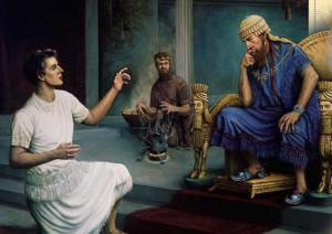 Daniel is examined by King Nebuchadnezzar