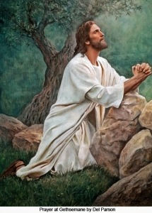 The agony of Jesus while praying in Gethsemane proves His commitment to the Father's will.