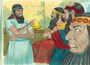 Nebuchadnezzar is firm in demanding the contents and interpretation of his dream.