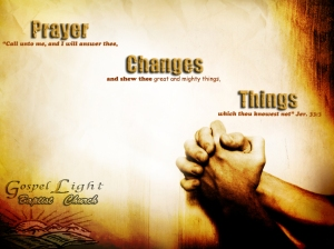 Does prayer change things or does it change us?