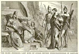The Blind Zedekiah, Last King of Judah, before Nebuchadnezzar of Babylon