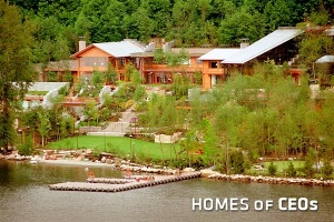 It might be difficult to see, but there's a lot to this home owned by Bill Gates.