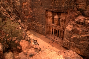 Petra, built into solid rock and once part of Edom, is now an abandoned city in Jordan. Likely thinking they were invincible, they were overcome by the Babylonians in the 6th century BC.