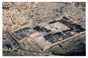 Today's Temple Mount with no sign of the Jewish Temple. Not one stone has remained on another in fulfillment of prophecy by Jesus Himself (Matthew 24:1-2).