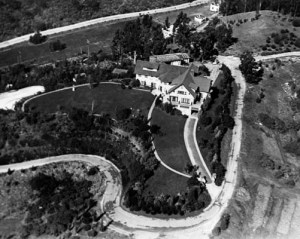 The home of Douglas Fairbanks and Mary Pickford in the 1920s.