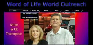 Mike Thompson (and his wife CK), self-appointed prophet and apostle...