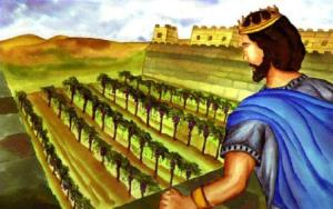King Ahab's covetousness led him to eventually murder Naboth over a vineyard.