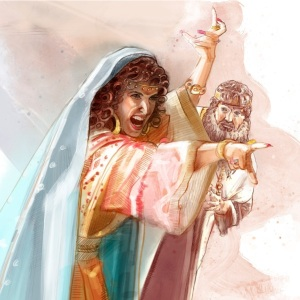 Jezebel wasn't happy when cowardly King Ahab told her what Elijah did to the 450 prophets of Baal.