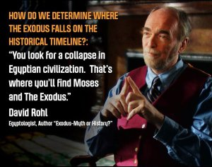 Agnostic David Rohl has an open mind about the possibility of the biblical Exodus.