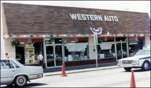 A small Western Auto store, not unlike the one I bought model kits from as a kid!
