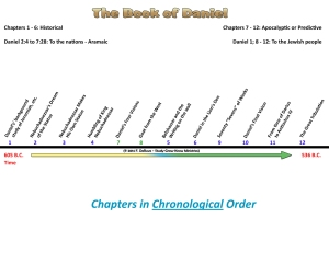 Notice the chapters of Daniel are not all chronological.