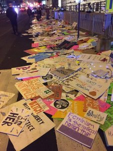 "A ""gift"" left in the wake of the recent Women's March in DC. While these women would argue they support the environment, clearly, they don't."