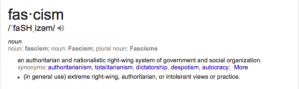 Google has specifically associated fascism with the right (conservative).